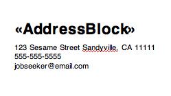AddressBlock