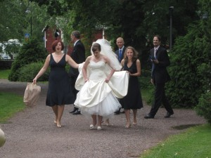 Bride and bridesmaids in Finland