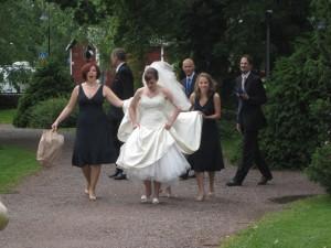 Bride and bridesmaids in Finland