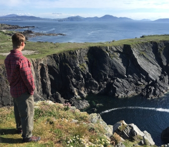 My husband and the beautiful Irish coast.